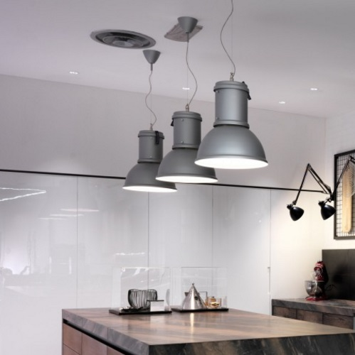 lamp Pendant Lamp Aluminium natural ø35x40 + 200 1x105w (HA) E27