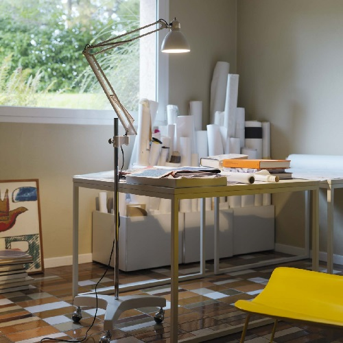 Naska Accessory base of suelo and Floor Lamp ø43x102cm white