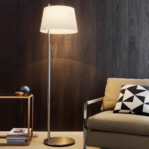 Passion lámpara de Pie níquel ø47x175cm 2x20w E27 (FL)