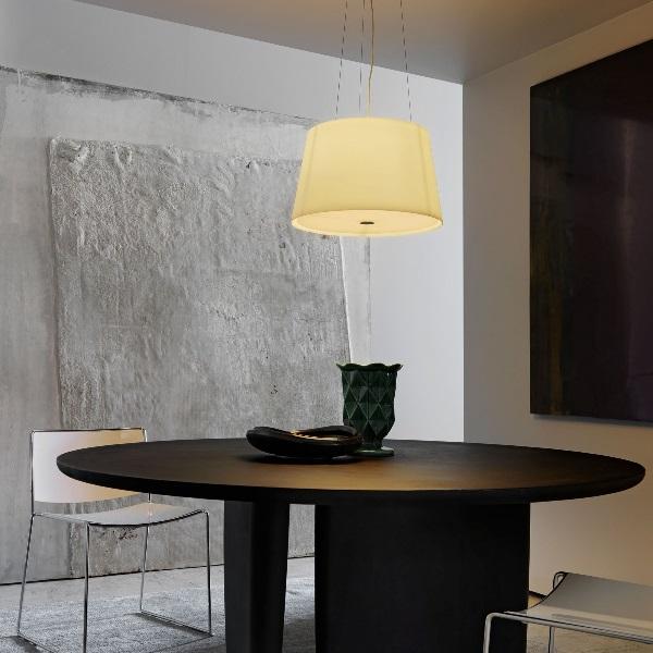 Passion Lámpara Colgante blanco Satinado ø47x28x150cm 1x150w E27 (HL)