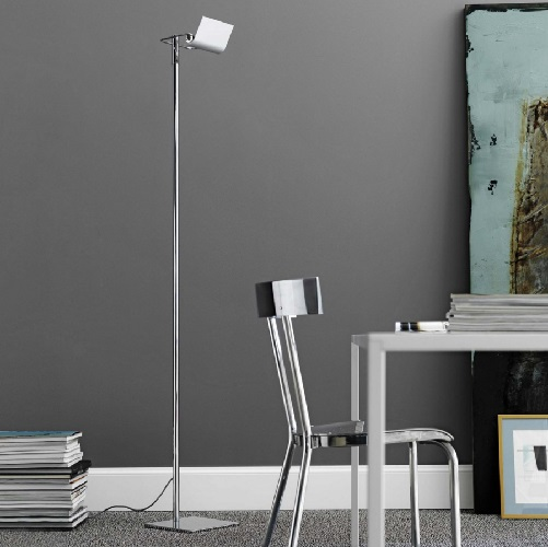 Scintilla lamp of Floor Lamp niquel Satin 26x26x180cm 300W R7s