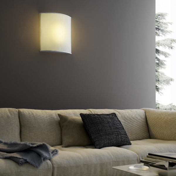 Simple White Wall Lamp white opalino 1x36w 2g10