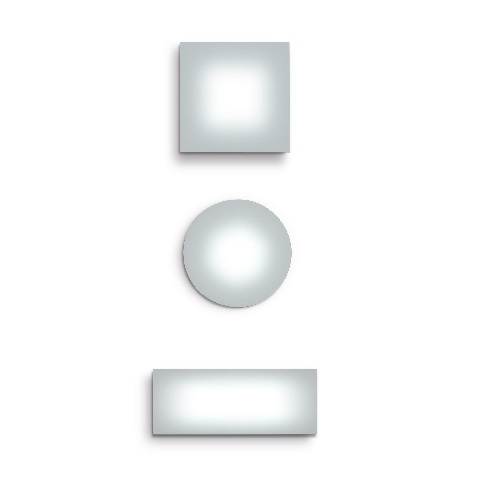 Sole Wall lamp/ceiling lamp LED 175x70 rectangular