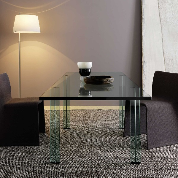 Teso table rectangular Glass float 220x85x73cm