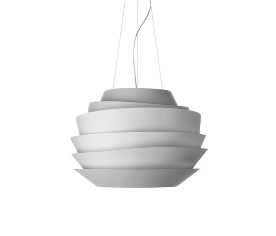 Le Soleil Suspension Fluorescent Dimmer blanc