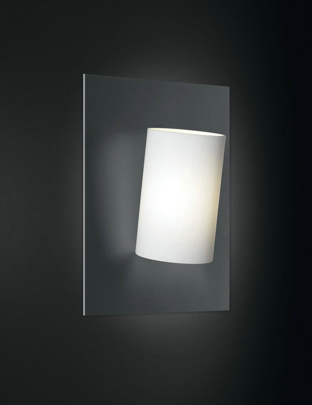 Affix Wall Lamp Grey Silver/white