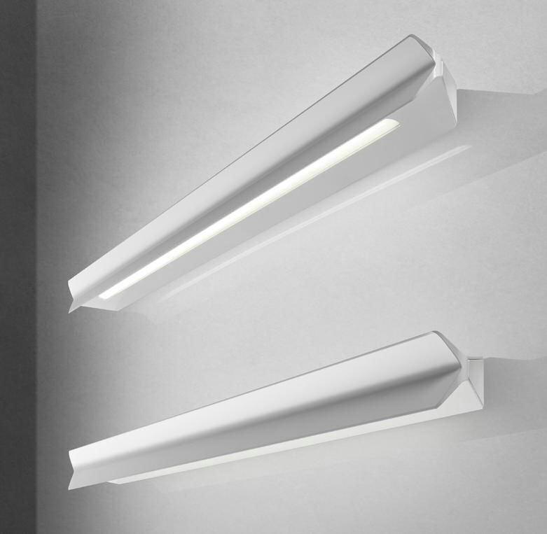 Falena 1 Aplique Aluminio Lacado 22cm blanco