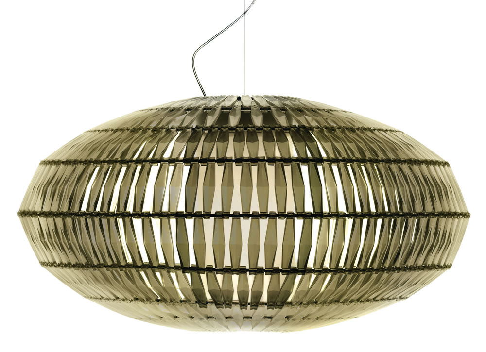 Tropico Ellipse Pendant Lamp 5 meter cable Ivory