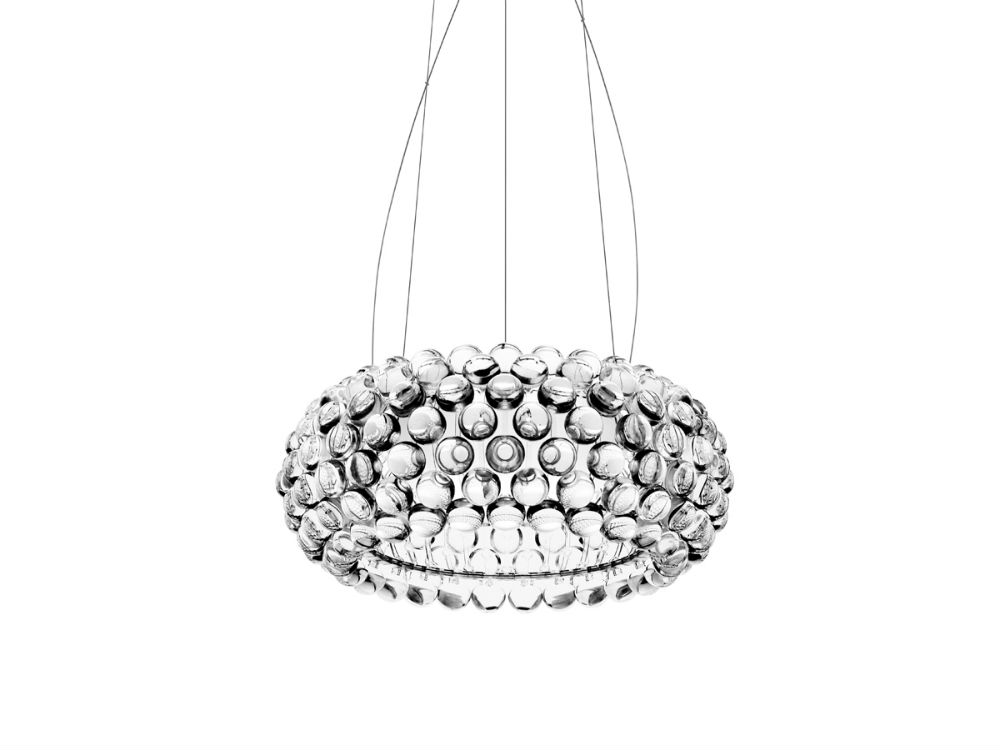 Caboche LED Pendant Lamp ø50cm LED 35w 3000K cable 5m Transparent