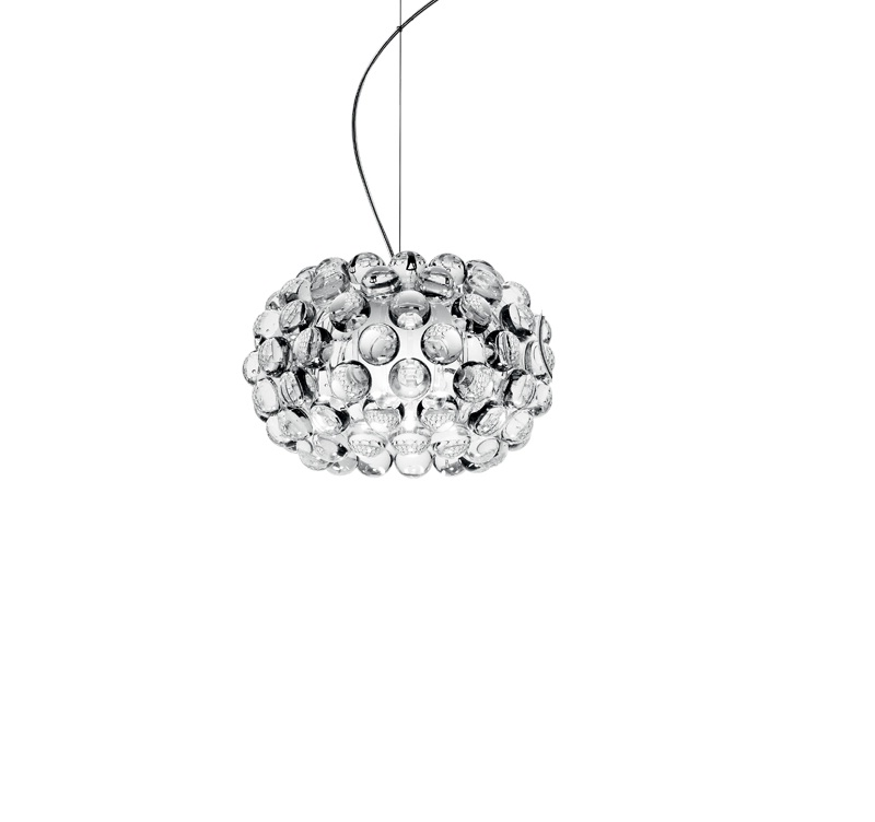 Caboche Pendant Lamp Small without florón composition Multiple Transparent
