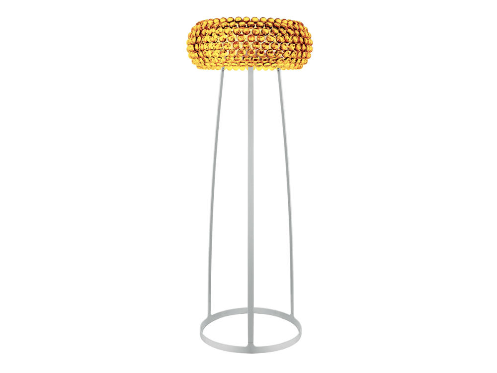 Caboche lámpara of Floor Lamp Medium Yellow Gold