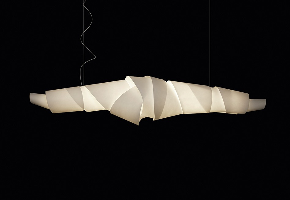 Jamaica Pendant Lamp 180cm G5 2x80w dimmable white