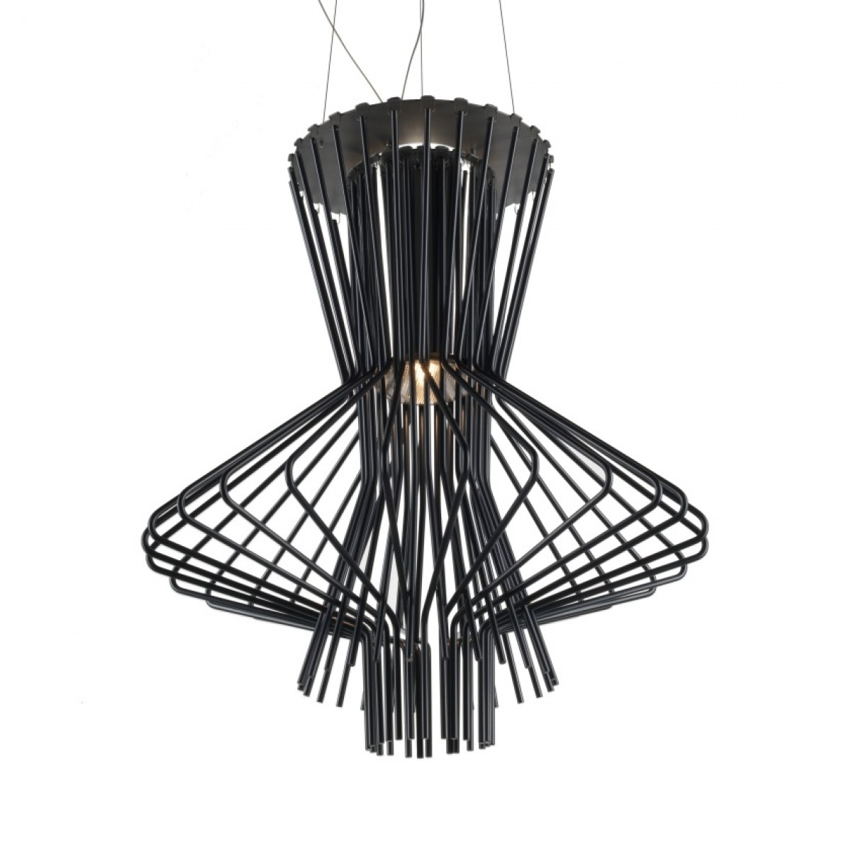 Allegretto Ritmico Pendant Lamp cable of 5 meters ø51cm Black