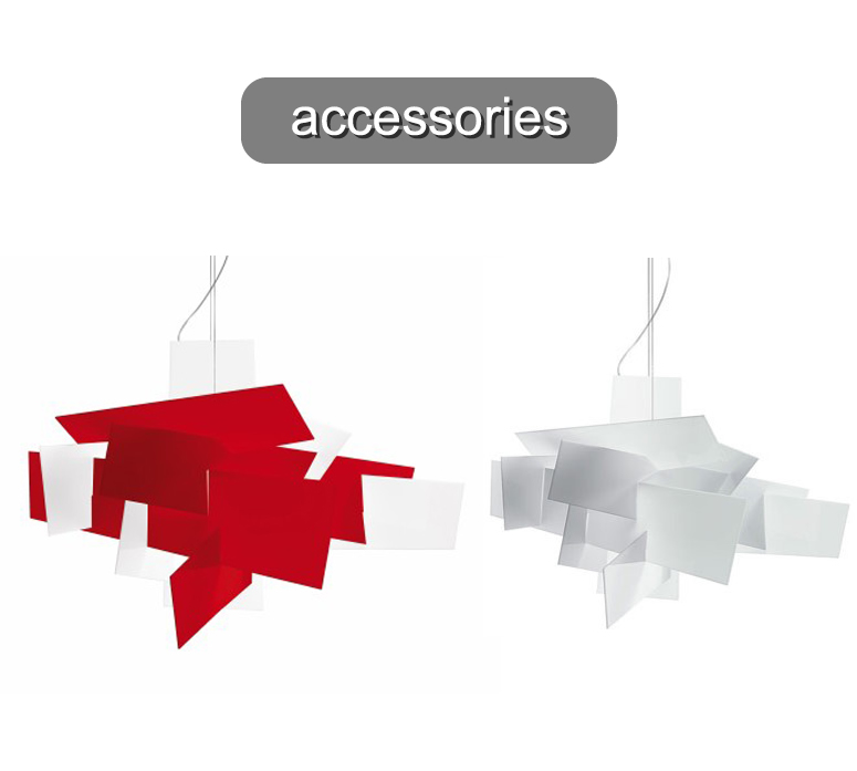 Big Bang XL Suspension Accessoire set de Diffuseurs Rouge