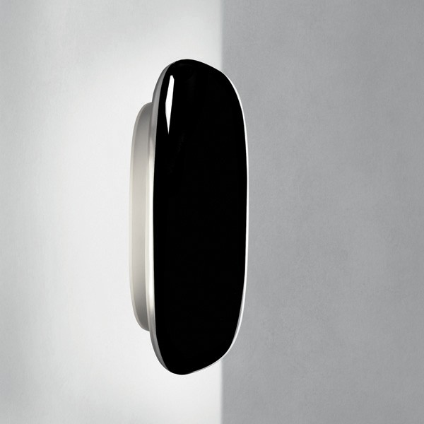 Tivu Large Wall Lamp polycarbonate 40,5cm Black