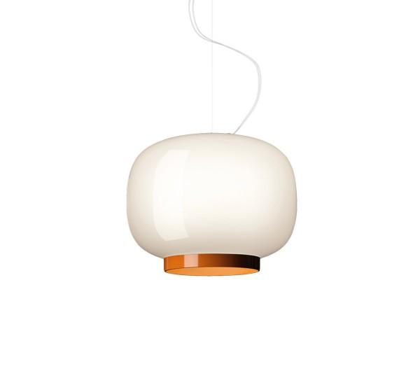 Chouchin 1 Reverse Lámpara colgante LED 24W Blanco y naranja