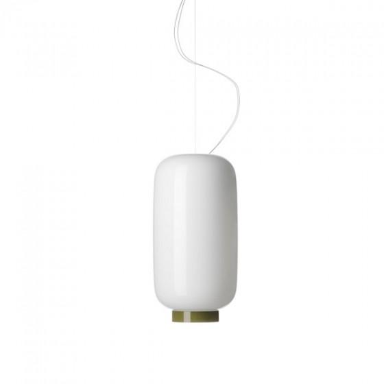 Chouchin 2 Reverse Lámpara colgante LED 24W Blanco y Verde