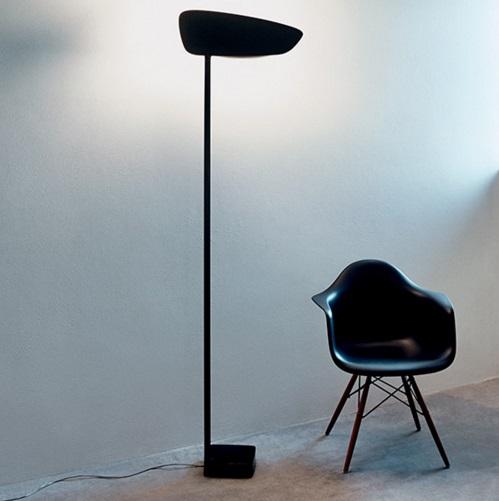 Lightwing lámpara de Pie negro