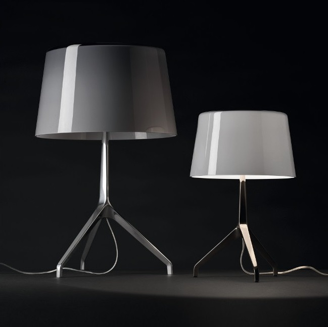 Lumiere XXL Table Lamp - Structure Chrome Black/lampshade marrón