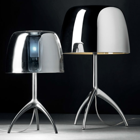 Lumiere 25TH Table Lamp pequeña with intensity regulator - Chrome Black