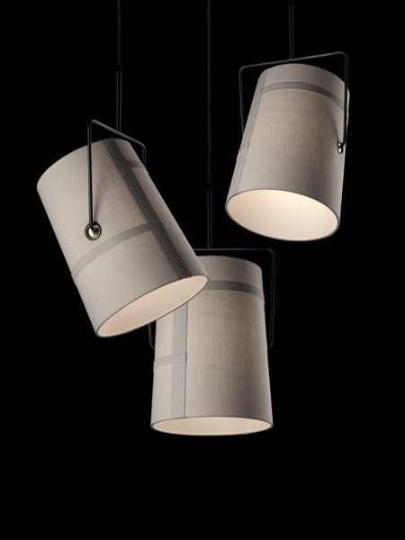 Fork Pendant Lamp Small Brown/Grey without florón