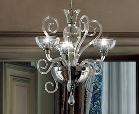 BOLERO L3 lampade Cromo ROSSO Rayas