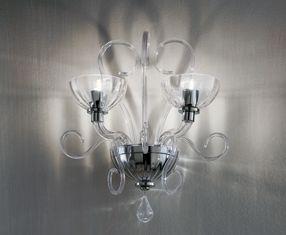 BOLERO P2 lampade Cromo ROSSO Rayas