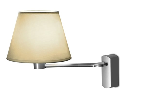 hotels (Structure) Wall Lamp 1 arm adjustable E27 60w Nickel Satin