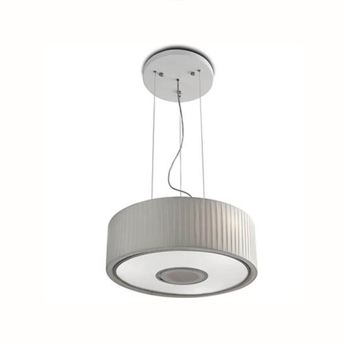 Spin Lámpara Colgante 45cm 3xE27 max23W - Cromo Difusor blanco opal