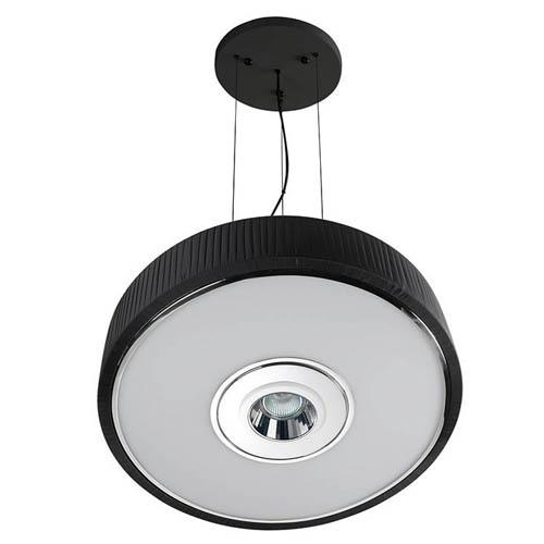 Spin Lámpara Colgante ø45cm 3x30w PL E27 + QR-CBC51 GU5,3 negro