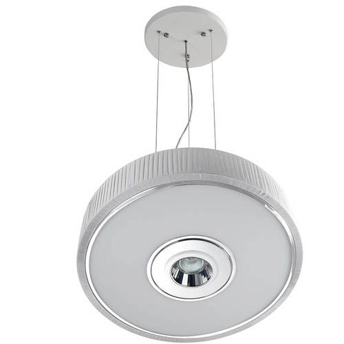 Spin Lámpara Colgante ø45cm 3x30w PL E27 + QR-CBC51 GU5,3 blanco