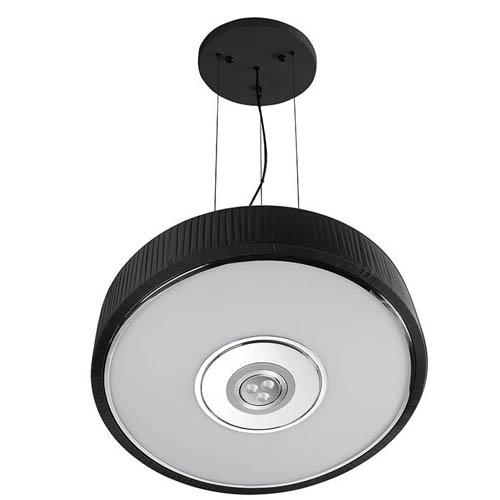 Spin Lámpara Colgante ø45cm 3x30w PL E27 + Cree LED 350mA 3w 2900ºK negro