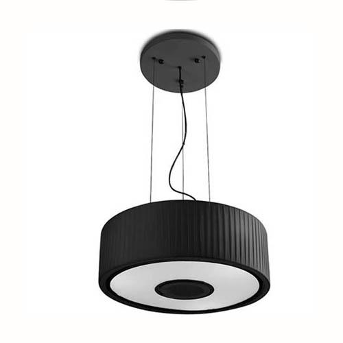 Spin Lámpara Colgante 75cm 5xE27 max30W - Cromo Difusor negro opal