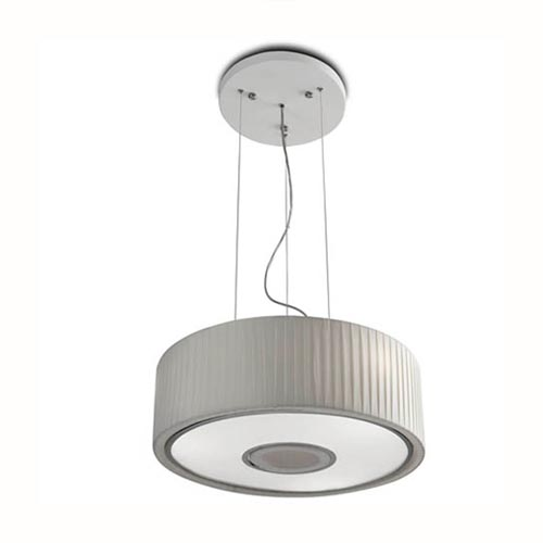 Spin Suspension 75cm 5xE27 max30W - Chrome Diffuseur blanc opale
