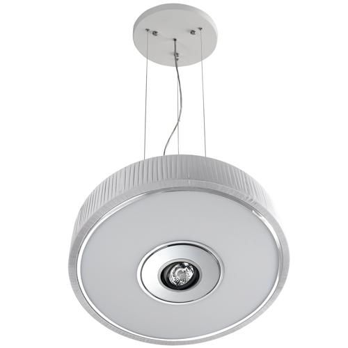 Spin Lámpara Colgante ø75cm 5x30w PL E27 + QR-111 G53 blanco