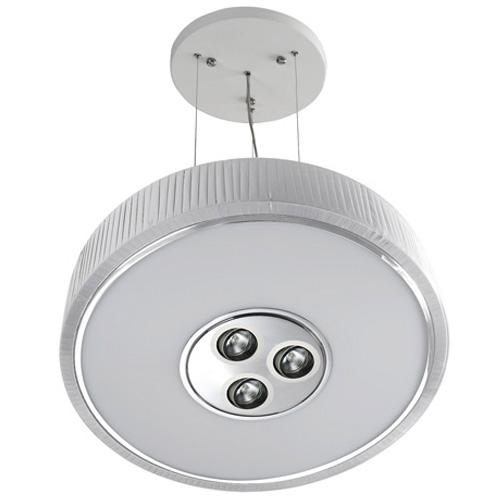 Spin Lámpara Colgante ø100cm 7x30w PL E27 + 3 Downlights QR 70 BA15d 50w blanco