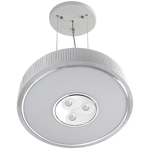 Spin Lámpara Colgante ø100cm 7x30w PL E27 + 3 Downlights Cree LED 4w 350mA 2900ºK blanco