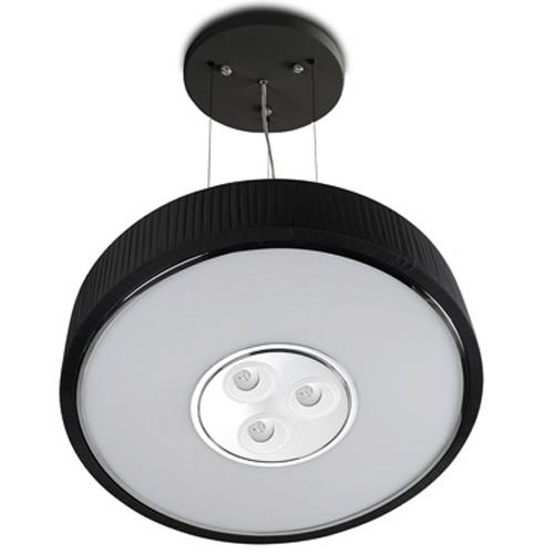 Spin Lámpara Colgante ø100cm 7x30w PL E27 + 3 Downlights Cree LED Orientables 4w 350mA 2900ºK negro