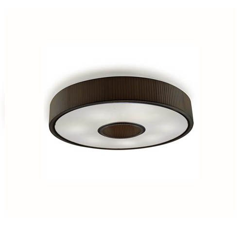 Spin Plafón 45cm 3xE27 max23W - Cromo Difusor negro opal