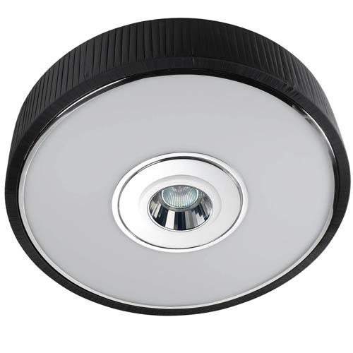 Spin Plafón ø45cm 3x30w PL E27 + QR-CBC51 GU5,3 negro
