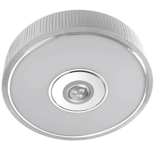 Spin Plafón ø45cm 3x30w PL E27 + Cree LED 350mA 3w 2900ºK blanco