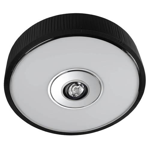 Spin Plafón ø75cm 5x30w PL E27 + QR-111 G53 negro