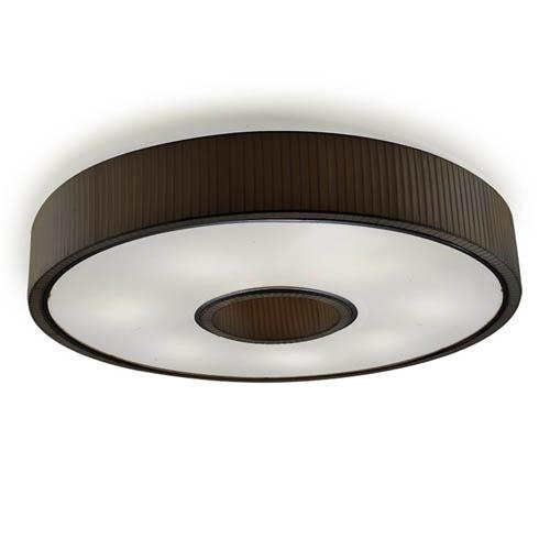 Spin Plafón 100cm 7xE27 max30W - Cromo Difusor negro opal