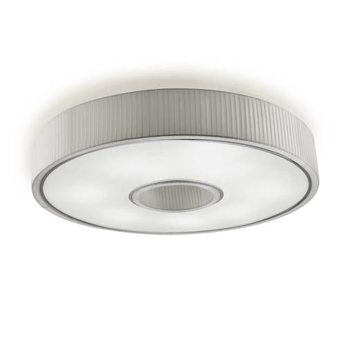 Spin Plafon 100cm 7xE27 max30W - Chrome Diffuseur blanc opale