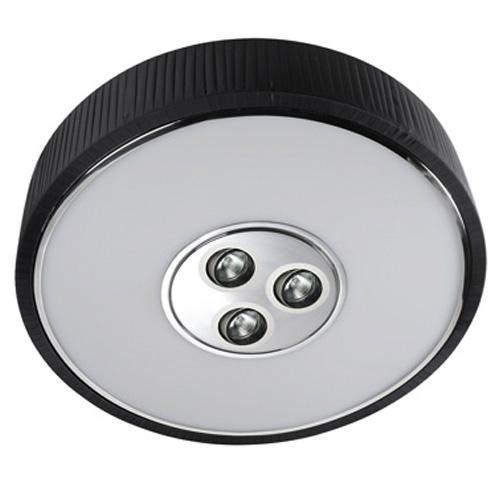 Spin Plafón ø100cm 7x30w PL E27 + 3 Downlights QR 70 BA15d 50w negro