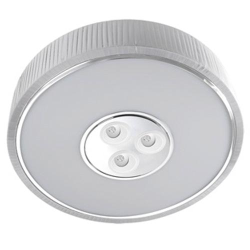 Spin Plafón ø100cm 7x30w PL E27 + 3 Downlights Cree LED 4w 350mA 2900ºK blanco