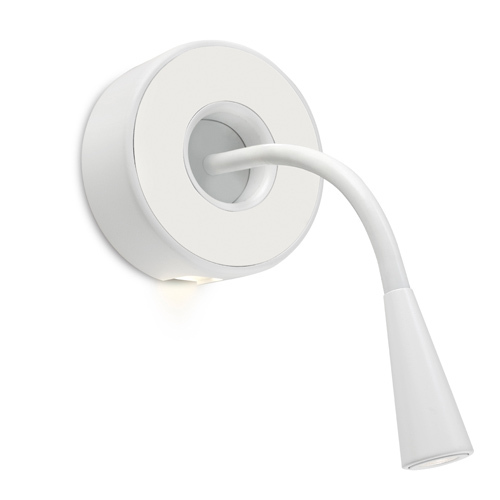 Lov Wall Lamp Reading adjustable touch switch LED 230V - white mate