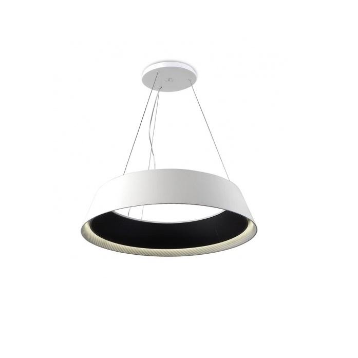Ringofire Lámpara Colgante 60cm LED 26w - blanco Mate negro