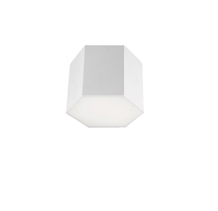 Six Plafón 28x22cm LED 15w 3000K - blanco mate