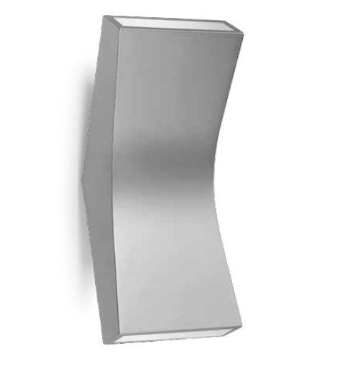 Bend Aplique 22cm LED 4,5w 2 haz de luz Aluminio Ecobright